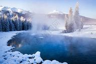 冬季新疆喀纳斯图片