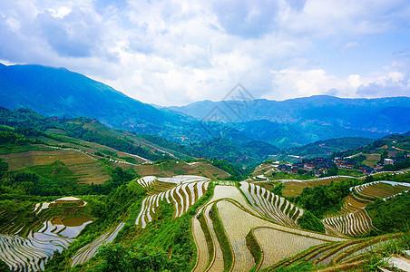 桂林龙脊梯田风光图片