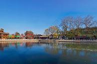 冬季冰封的北京后海图片
