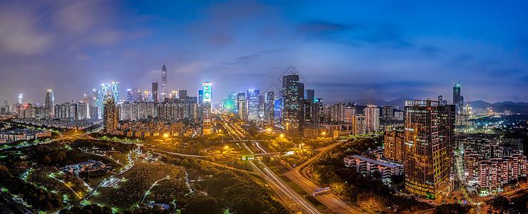深圳城市夜景全景图图片