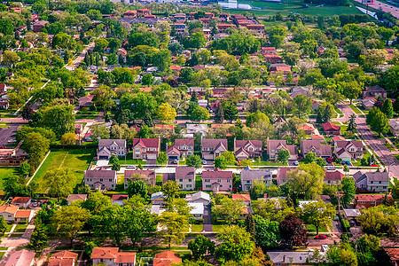 航拍芝加哥上空图片
