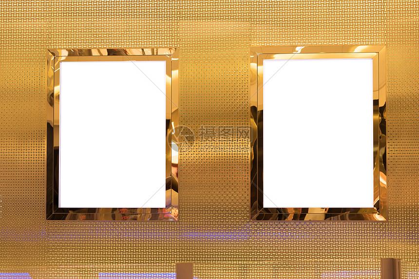 商场空白灯箱广告位图片