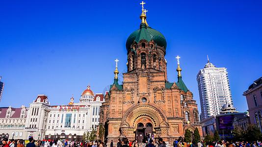 黑龙江索菲亚大教堂图片