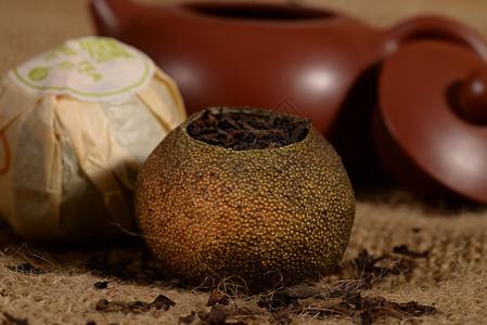 柑普茶图片