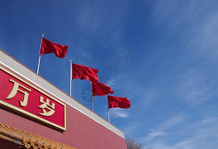 北京天安门国旗图片
