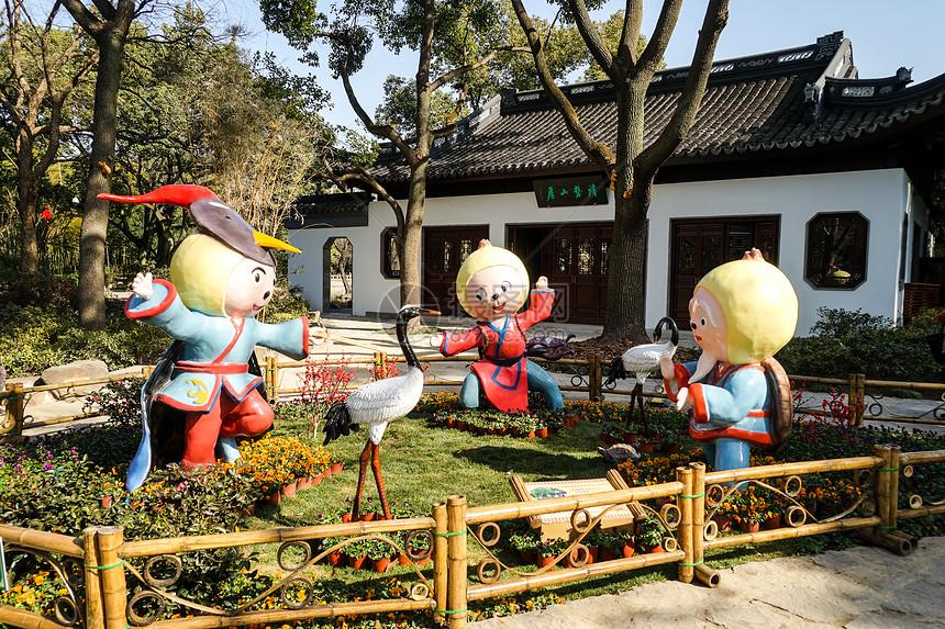 上海古猗园元宵节图片