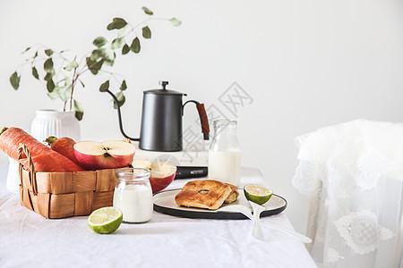 ins风早餐氛围餐桌图片