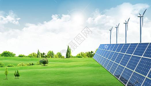 绿色能源太阳能发电图片
