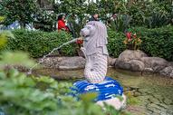 北京乐园世界微缩景观鱼尾狮身像图片