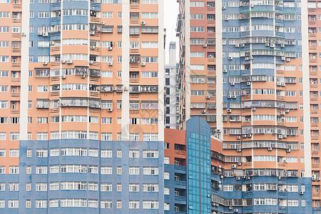 城市建筑外立面特写图片