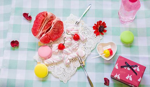 水果甜点组合图片