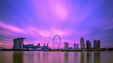 新加坡滨海湾全景图片