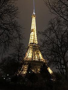 傍晚的埃菲尔铁塔图片