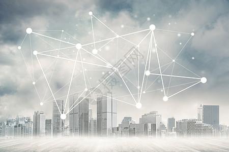 城市网络连接理念图片