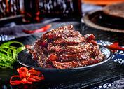 特色小吃五香牛肉干图片