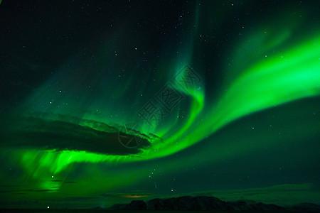 北欧海上极光图片