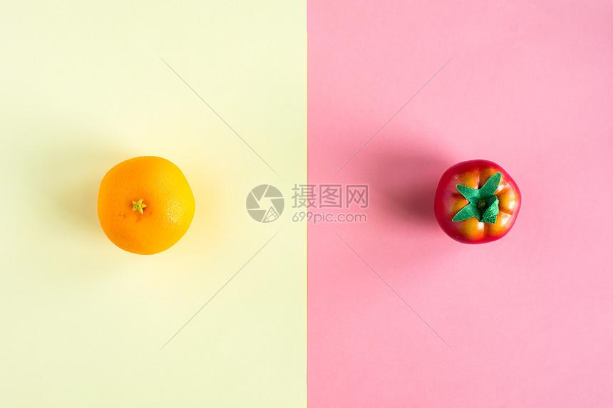 多彩水果配景素材图片