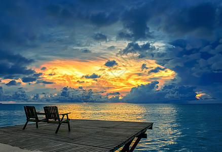 海上璀璨夕阳图片