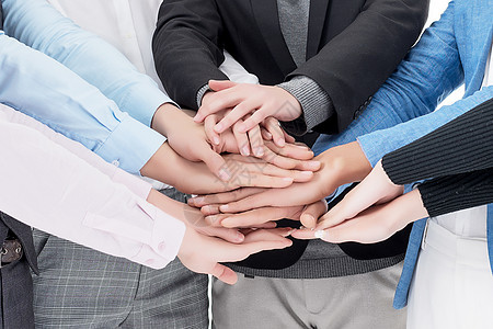 团队协作商务手势图片