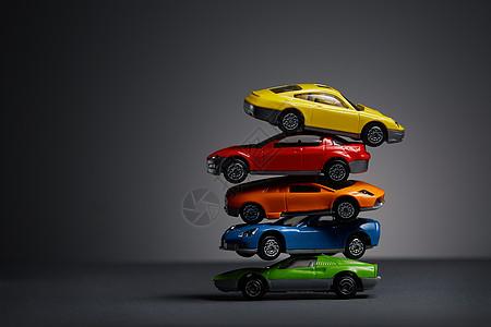 汽车模型重叠纯背景素材图片