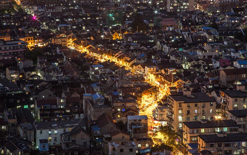 上海老城厢万家灯火图片