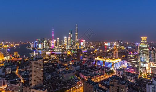 上海城市辉煌的夜景图片