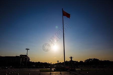 日落下天安门降旗仪式图片