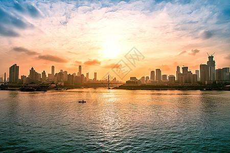 重庆渝中半岛夕阳图片
