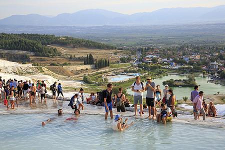 土耳其棉花堡天然温泉图片
