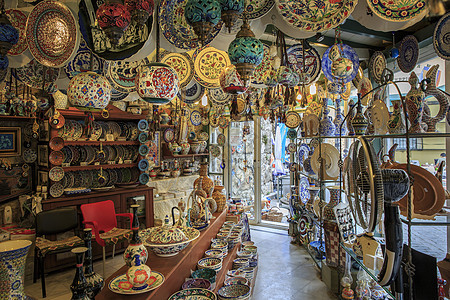 土耳其工艺品店铺图片