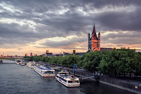 德国莱茵河风光图片