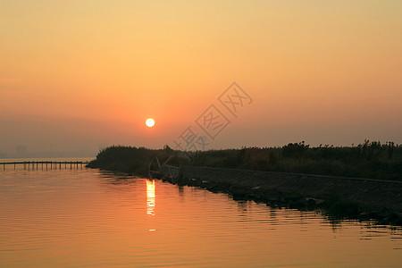 昆承湖日出图片