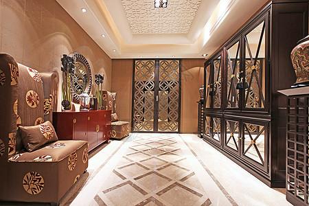 客厅沙发装修样板实拍图片摄影图片