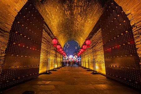 西安城墙新春灯会图片