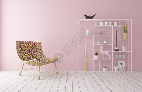 粉嫩室内家居背景图片