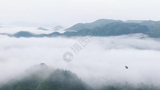 充满中国风意境的山水景色图片