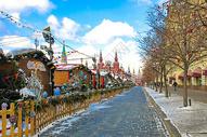 冬季莫斯科街景图片
