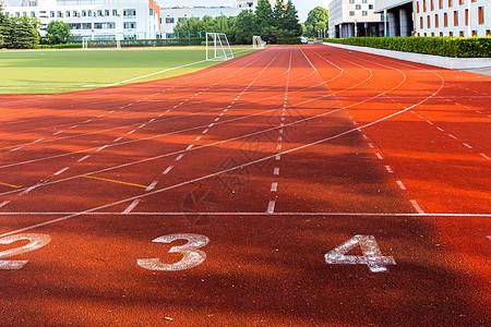 标准田径跑道高清图片
