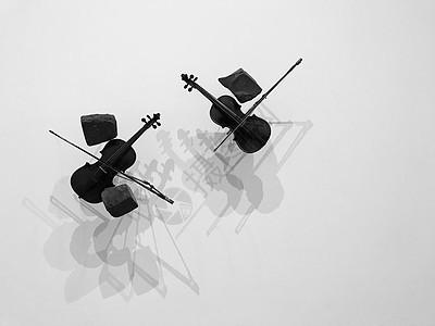 两架小提琴图片