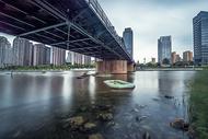 天津海河与金汤桥图片
