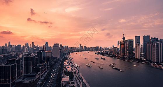 上海外滩城市日落图片