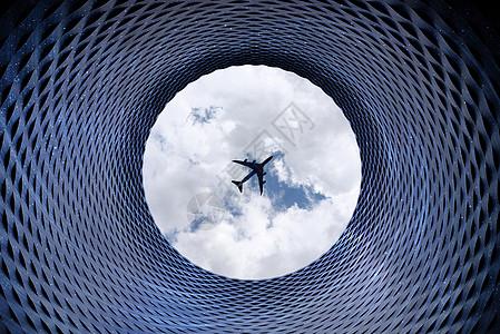 仰望天空图片