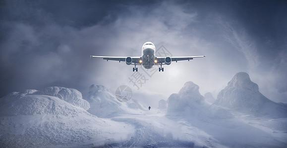 飞跃冰川图片