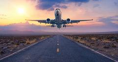 飞机起航创意图图片