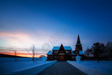 圣诞村邮局图片