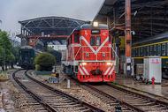 车站火车机车图片