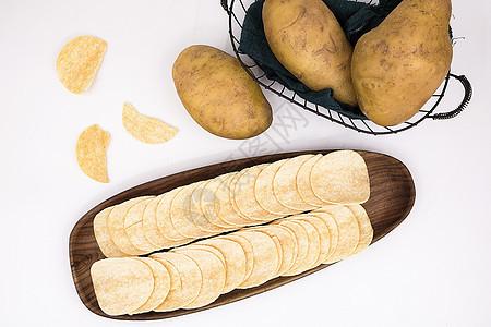 美味好吃的薯片土豆马铃薯图片