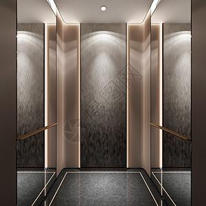 现代电梯井效果图图片