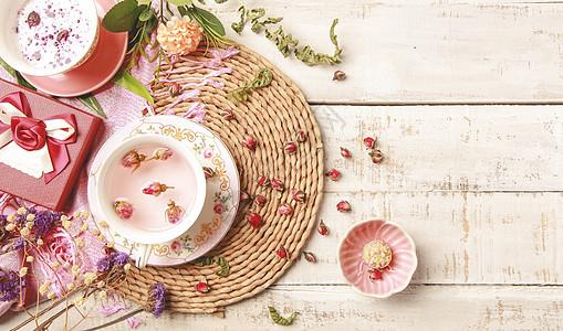 红玫瑰花茶图片