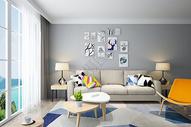 现代简约客厅背景图片